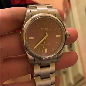 Oyster Perpetual Rolex Watch Grape